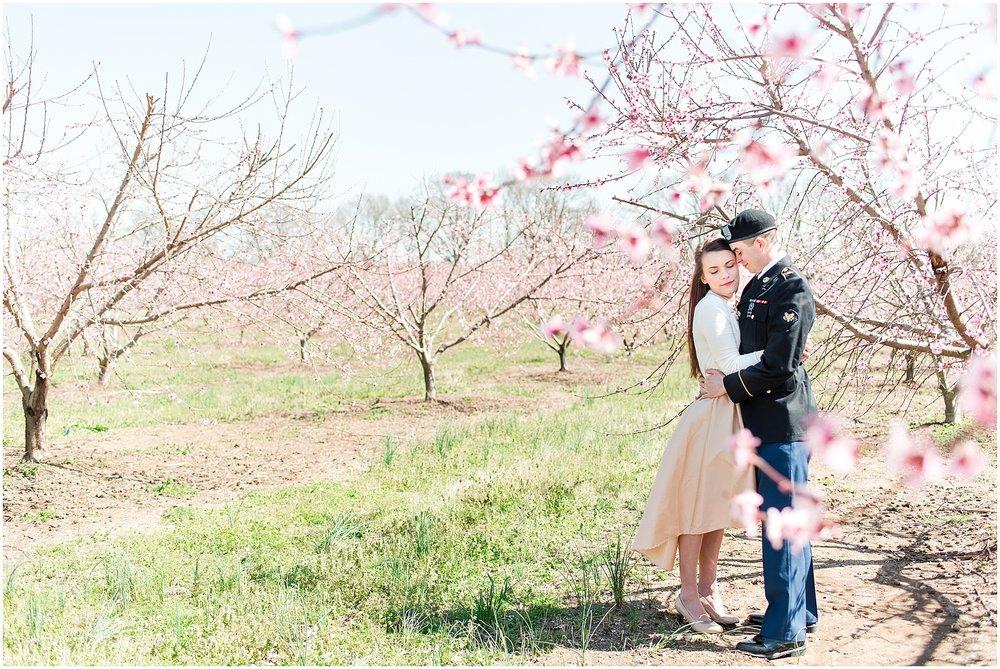Jones Orchard Engagement Photo