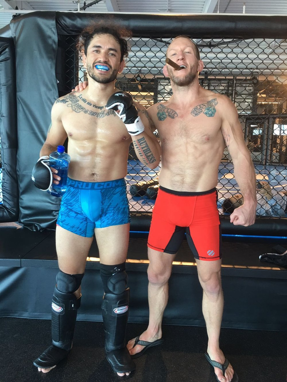 Combate Américas fighter Rudy Morales training with MMA Superstar Gray Maynard.