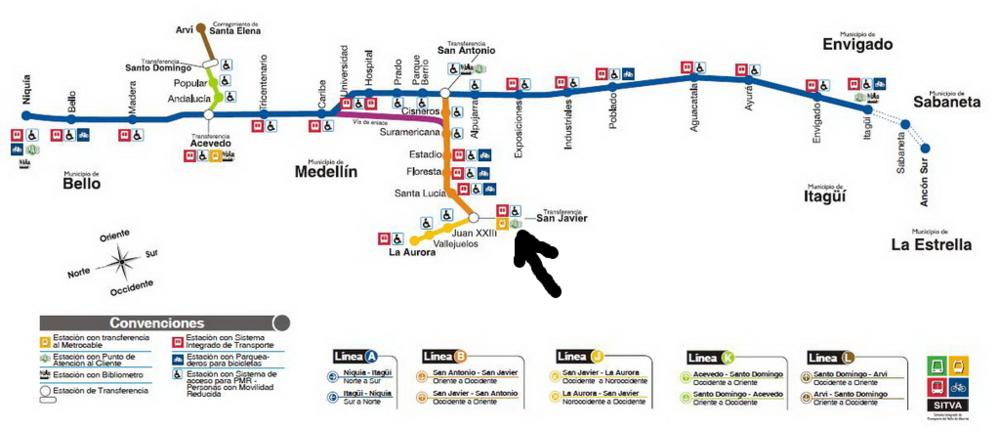 Medellin's Metro Map