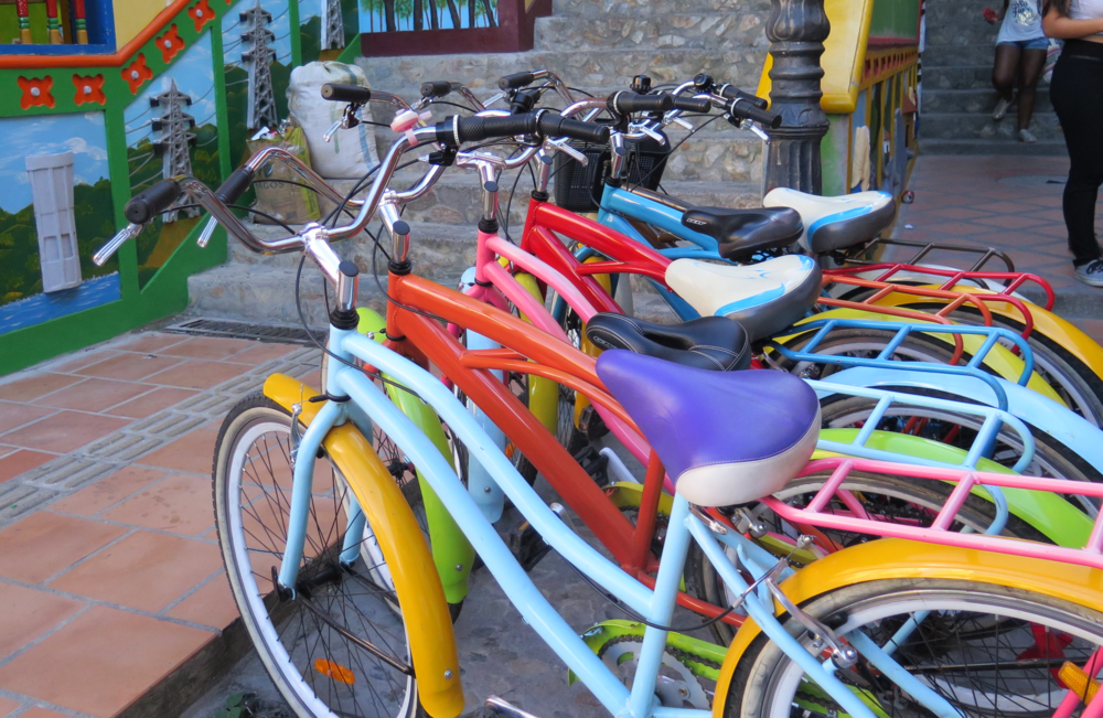 Bicycles in Gutapé, Colombia