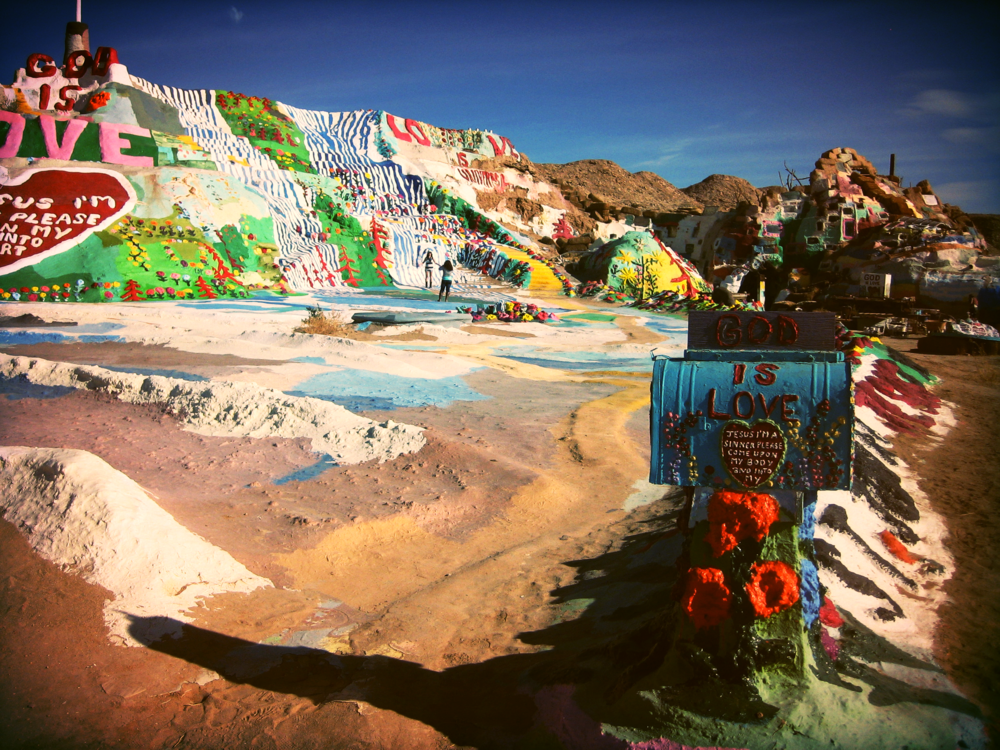 Salvation Mountain in Niland, California (photo back when filters were really cool...apparently)