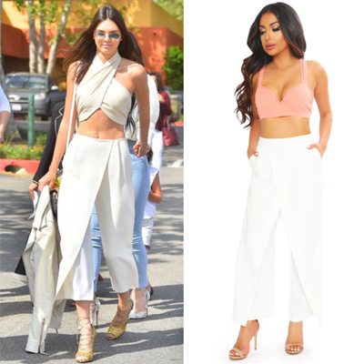 Kendall Jenner White Pants