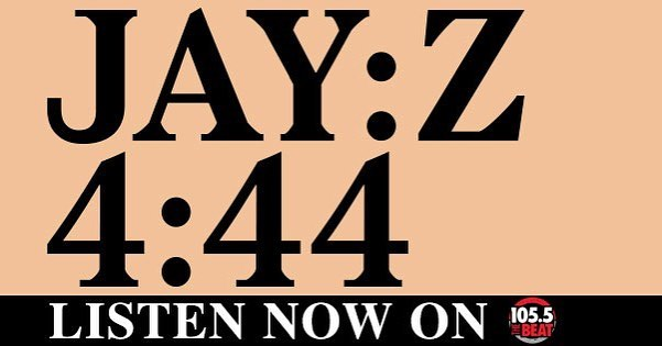 I got the whole jayz #4:44 album coming up again at 8pm!! Tune in #1055thebeat