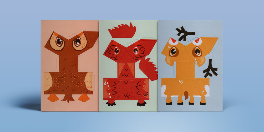 Christmas Creature Postcards