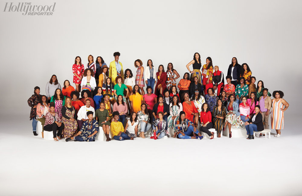 Ester Lou was included in the largest group photo in the history of the HWR, featuring over 60 black female writers.  Credit: Claudia Lucia