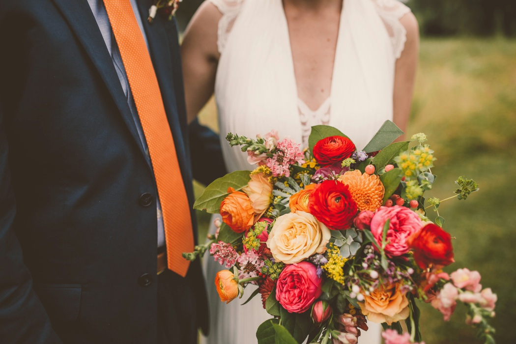 Virginia Wedding Florist Amanda Burnette Richmond VA Florist Fall Wedding Flower Two Spoons Photography Colorful Wedding Flower Crown BHLDN Dress Dog_0001.jpg