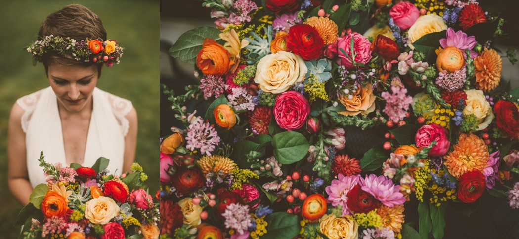 Virginia Wedding Florist Amanda Burnette Richmond VA Florist Fall Wedding Flower Two Spoons Photography Colorful Wedding Flower Crown BHLDN Dress Dog_0004.jpg