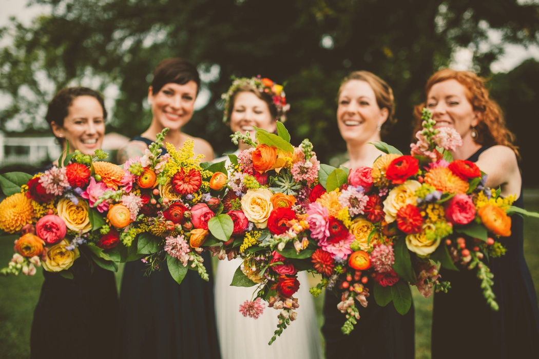 Virginia Wedding Florist Amanda Burnette Richmond VA Florist Fall Wedding Flower Two Spoons Photography Colorful Wedding Flower Crown BHLDN Dress Dog_0006.jpg
