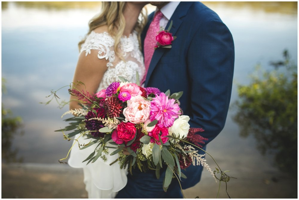 Amanda Burnette Richmond Wedding Florist Wedding Carly Romeo and Co Leesburg Wedding Garden Wedding Dahlias Garden Rose Greenery Natural Hot Pink Organic Blush Pink_0003.jpg