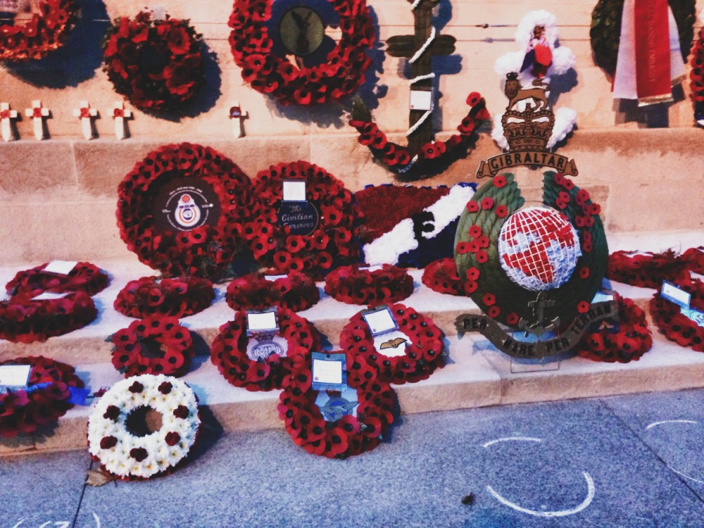 Wreaths at the Cenotaph, Whitehall, London