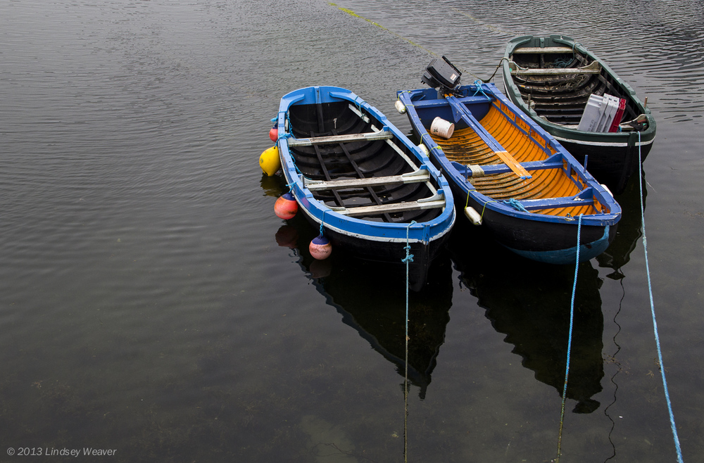 Fishing boats in Roundstone