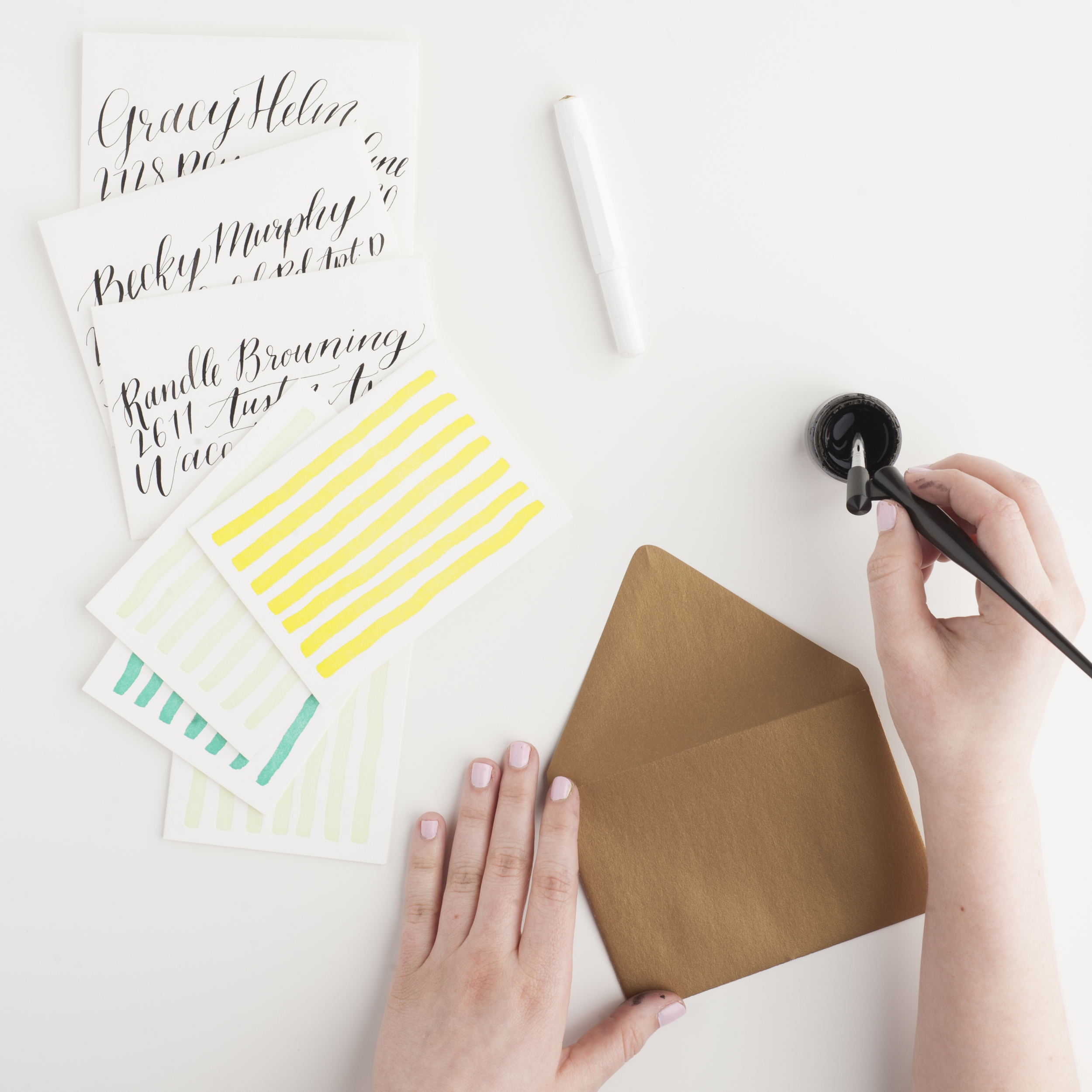 card and lettering writing | coloregrace