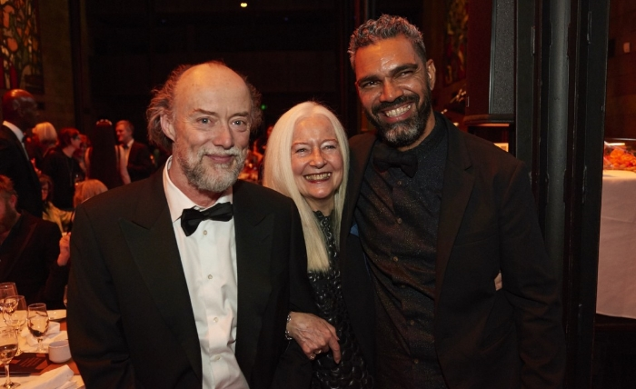 Bill Henson, Roslyn Oxley & Daniel Boyd. Image credit: Tom O'Connor