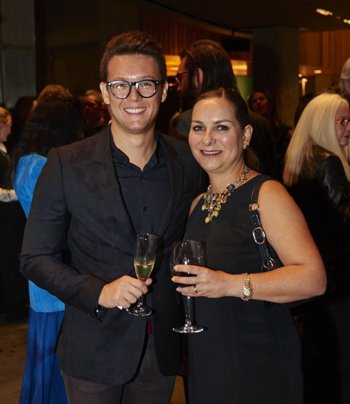 Singapore representative Benjamin Hampe and Hong Kong representative Adriana Alvarez-Nichol at the MAF Awards for the Visual Arts. Image credit: Tom O'Connor