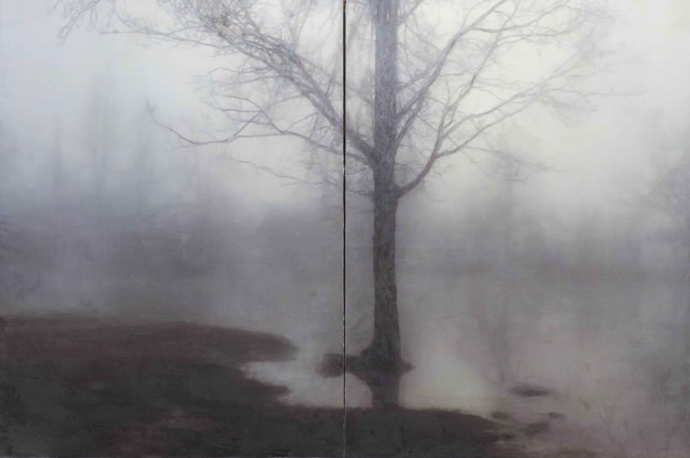 Luke Wagner, As we Travel, 2017, oil & wax on linen, 122 x 183cm