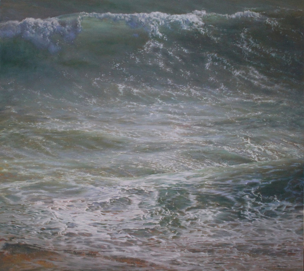 Louise Feneley, Swell, oil on canvas, 135 x 150cm