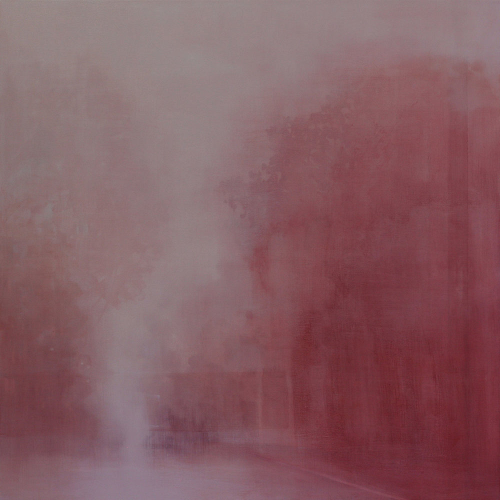 Adriane Strampp, Disruption, oil on linen, 91 x 91cm