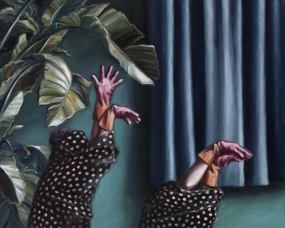Amber Koroluk-Stephenson, The Hunt, 2017, oil on linen, 40 x 50cm