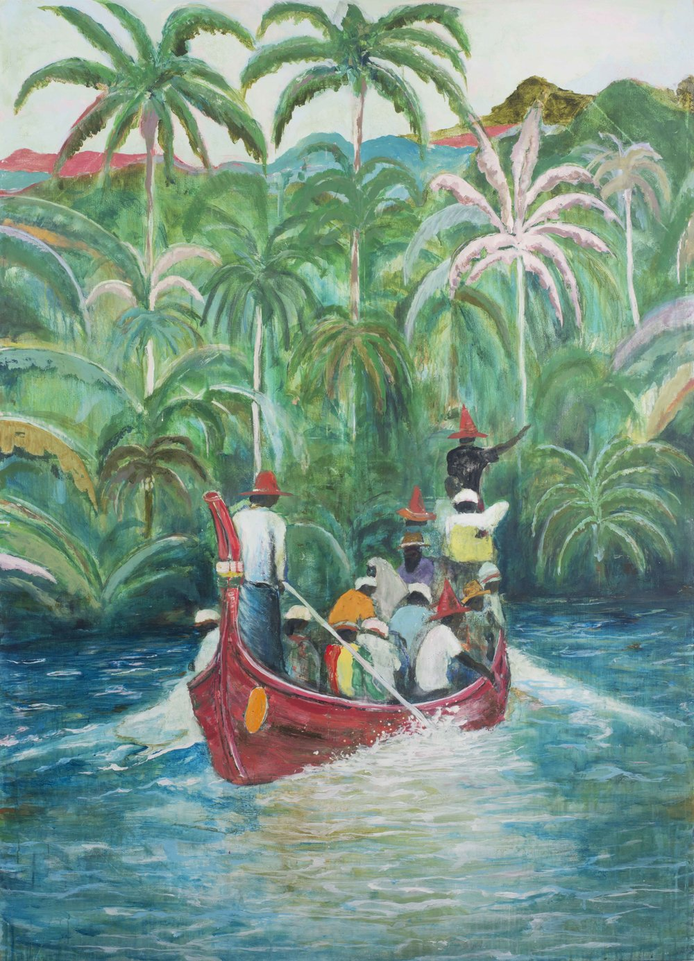 Adam Lester 'Mahaweli snake river' 2017, acrylic and oil on canvas, 170.0 x 122.0 cm