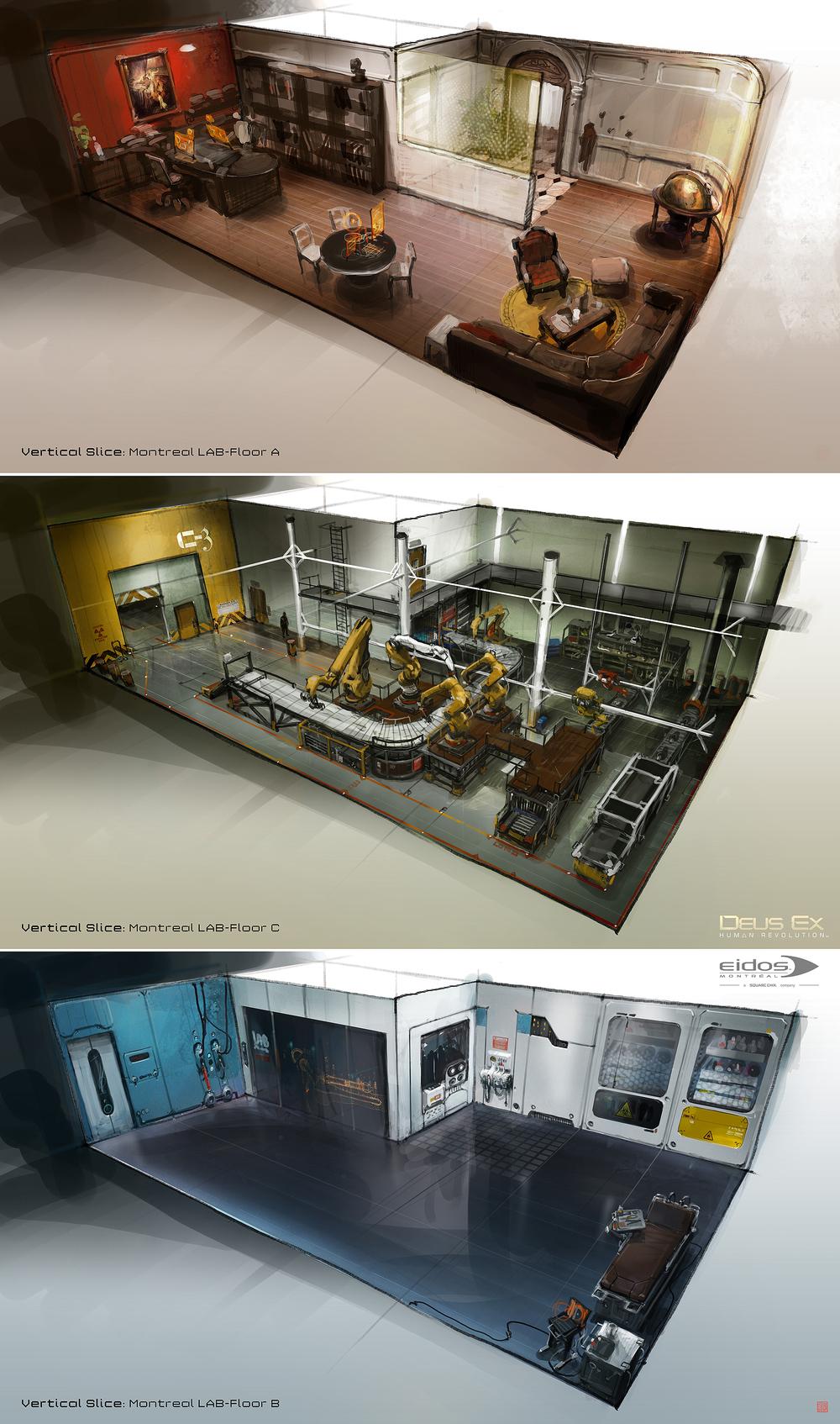 Deus Ex HR: rooms, ©️️Eidos Montreal.
