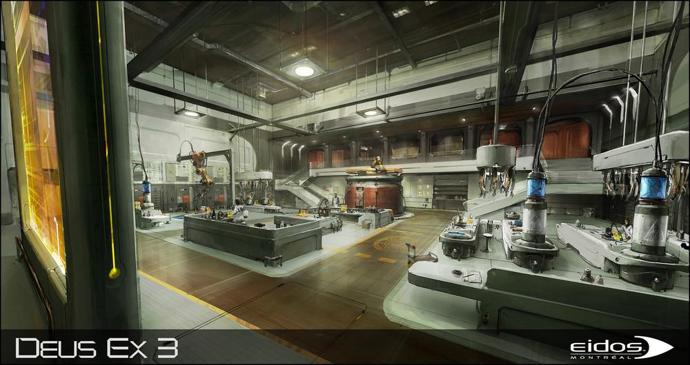 Deus Ex HR: lab, ©️️Eidos Montreal.
