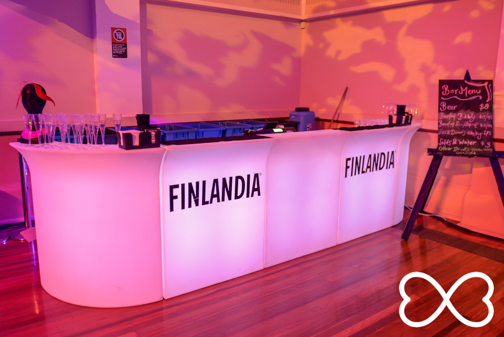 We had a special French Martini bar supplied by our partner Finlandia vodka.  Photograph by Jeffrey Feng Photography for SGLMG.