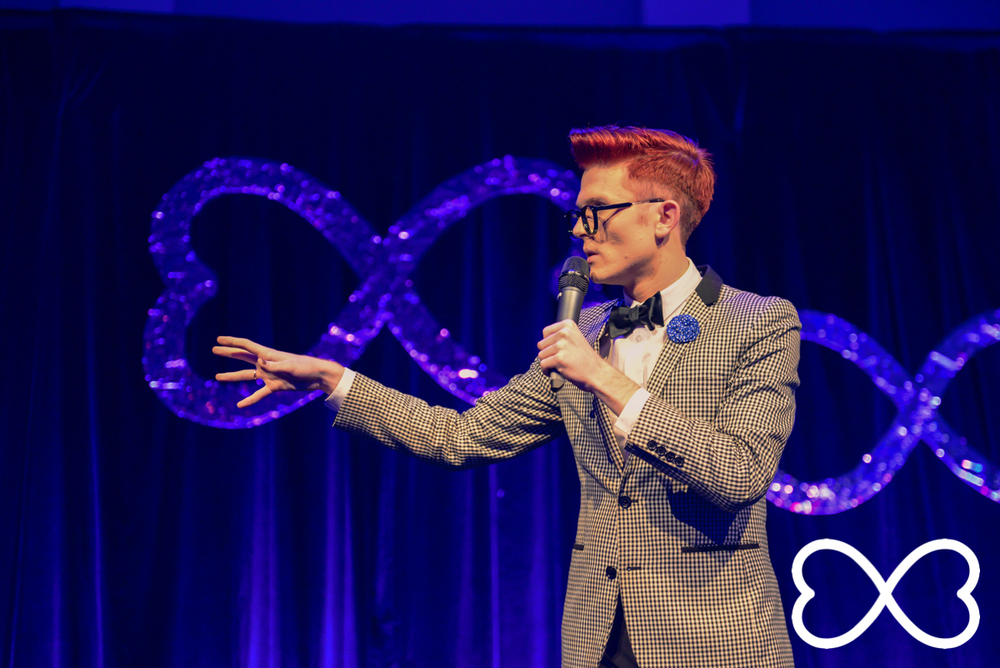 Rhys Nicholson kicked off the night with some hilarious anecdotes and jokes.   Photograph by Jeffrey Feng Photography for SGLMG.