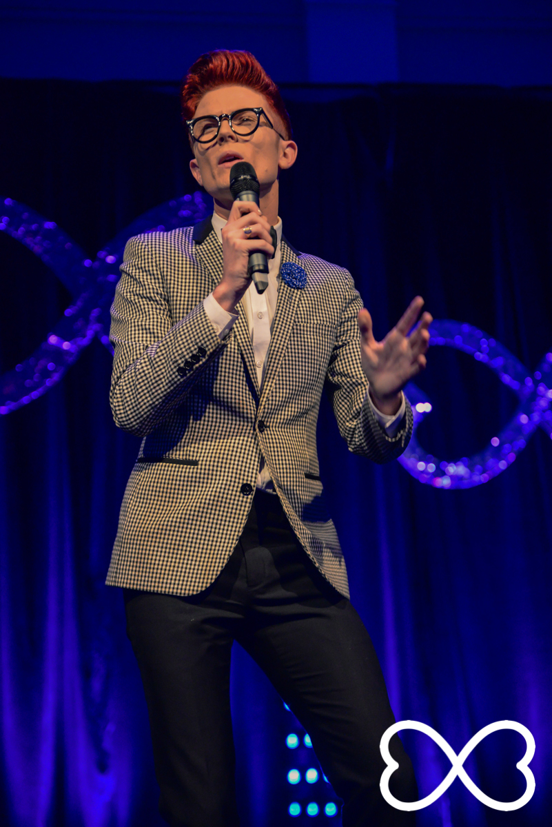 Rhys Nicholson started the night with hilarious jokes that the audience loved.   Photograph by Jeffrey Feng Photography for SGLMG.