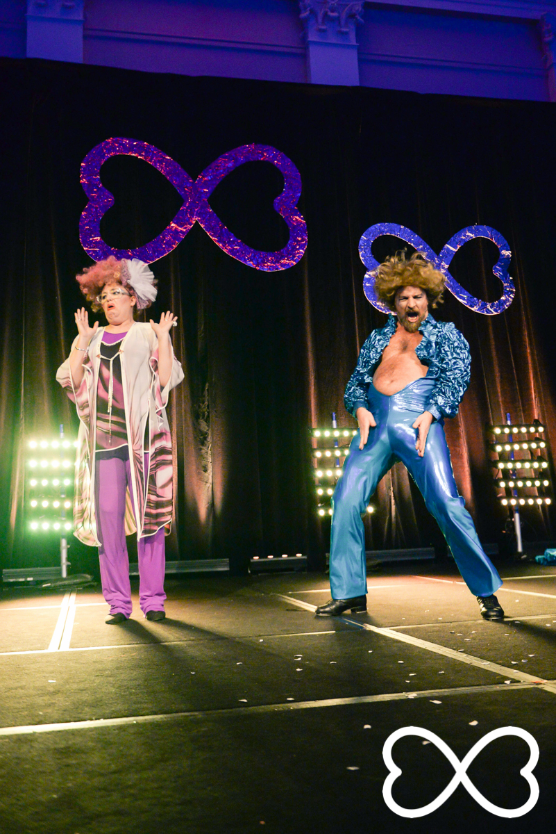 Romany Brooks and Laurence Stark perform at Lip-Sync Duels.  Photograph by Jeffrey Feng Photography for SGLMG.