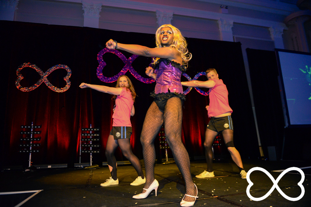 Senthorun Raj performs at Lip-Sync Duels.  Photograph by Jeffrey Feng Photography for SGLMG.