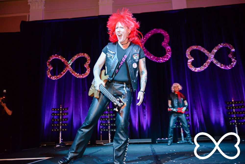 Jonnie Swift performing at Lip-Sync Duels.  Photograph by Jeffrey Feng Photography for SGLMG.