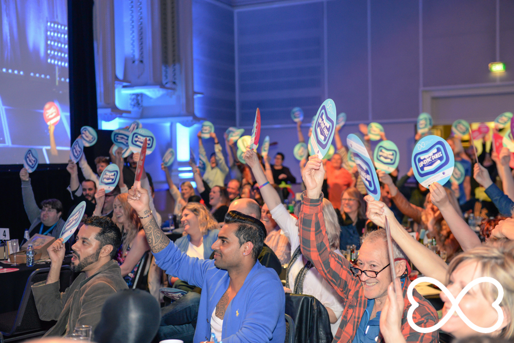 The crowd votes for their favourites in Round 3 at Lip-Sync Duels.  Photograph by Jeffrey Feng Photography for SGLMG.