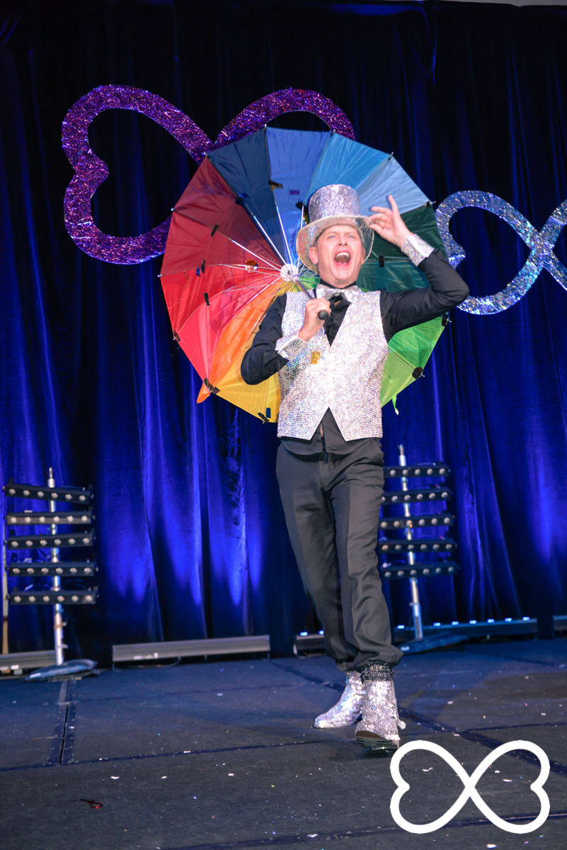 Paul Savage performing in Round 3 at Lip-Sync Duels.  Photograph by Jeffrey Feng Photography for SGLMG.