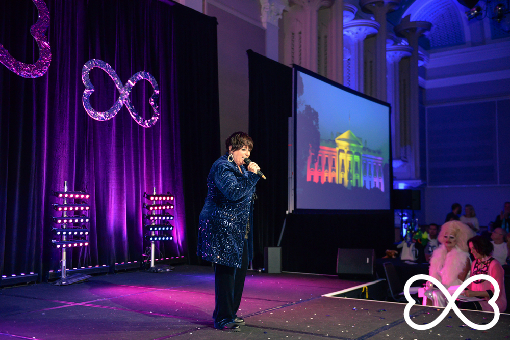 Shauna Jensen performing a soulful rendition of 'Proud' by Heather Small during Lip-Sync Duels.  Photograph by Jeffrey Feng Photography for SGLMG.