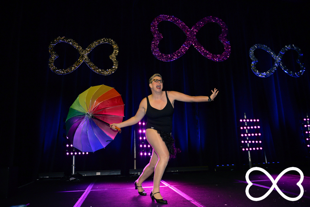 Grand Final performance from Shelly Silberman at Lip-Sync Duels.  Photograph by Jeffrey Feng Photography for SGLMG.