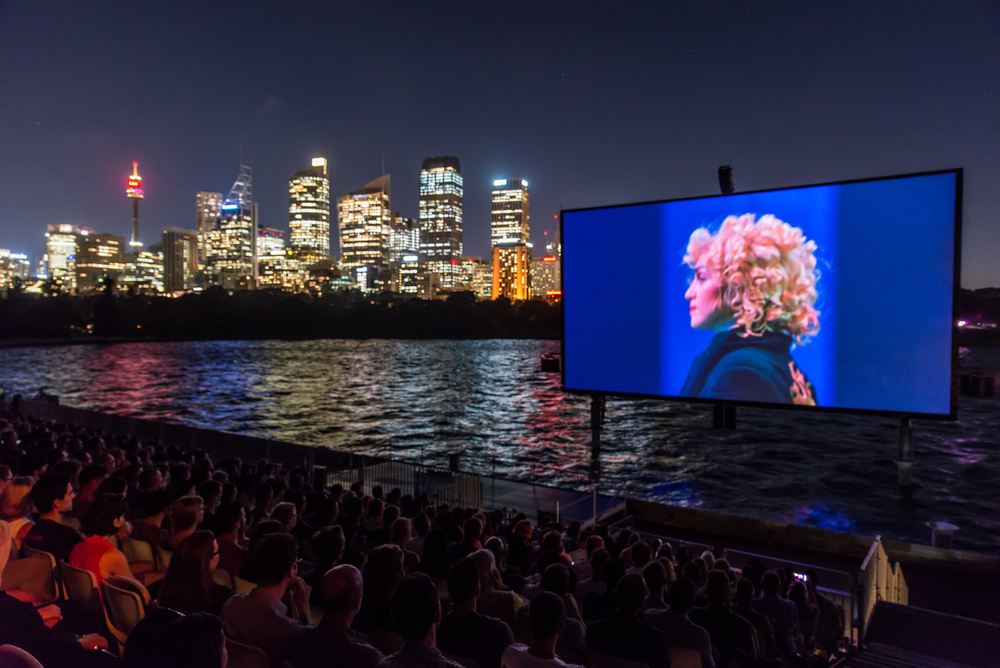 The first year of The Harbour featured screenings of 'In Bed With Madonna' & 'Mamma Mia!', along with a special concert by renowned Australian singer Tina Arena. Photo by Rod Spark for SGLMG 2016.