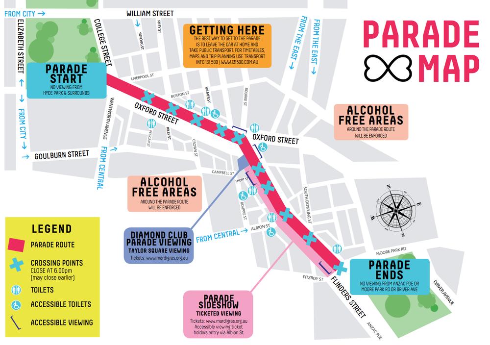 sydney route closures mardi gras