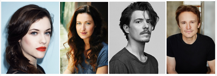 Pictured: The stars of Riot - Jessica de Gouw, Kate Box, Xavier Samuel and Damon Herriman