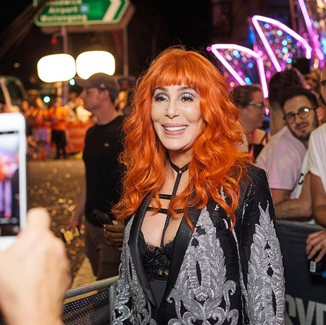 CHERING THE LOVE! @cher was an AMAZING special guest for #MardiGras40. Here she is at the Parade where she saw our special Cher-inspired show, and at the Party where she performed four of her most iconic songs - with a surprise costume change for Turn Back Time!  Thank you to @qantas, @destination_nsw, @sbs_australia, Blink TV and @kiis1065 for helping us bring Cher to Mardi Gras!  Photography by Dan Gosse.