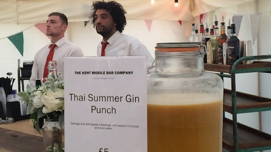 Try one of our punches served from our rustic mobile bar