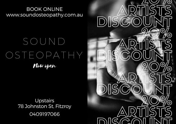 Fitzroy Sound Osteo artist discount