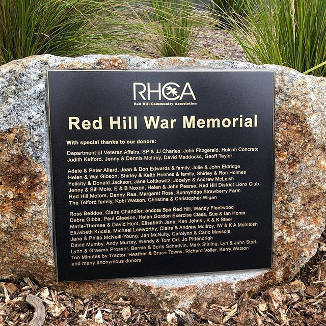 Great to see all the generous donors names 'up in lights' at the Red Hill War Memorial.  #redhillsouth #redhill #visitredhill #morningtonpeninsula #warmemorial #anzac #ww1 #ww2 #vietnamwar