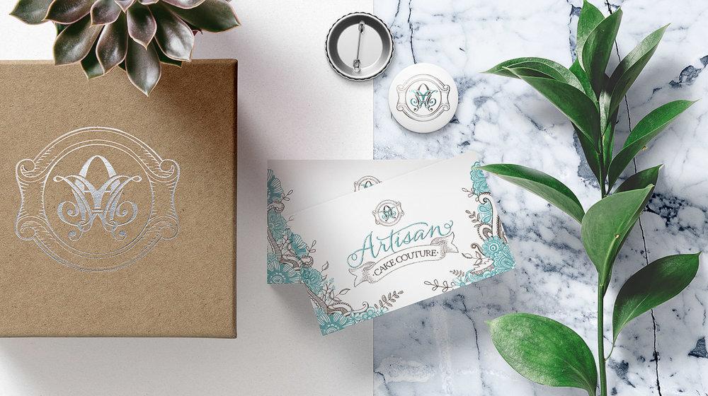 artisan<br>cake couture<strong>Logo Design</strong>
