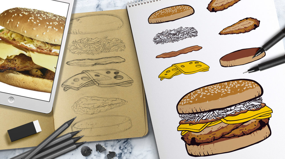 chicken hedz<strong>Burger Illustrations</strong>
