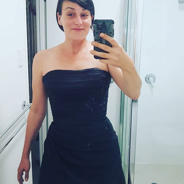 That feeling when you try on a gown you last wore in your late 20's, 13 years ago... And you hands-down own it. #doingmy40slikeaboss #shittyensuiteselfie #nomakeup #asusual  #creativore #cleanmirror #fluffonmirror #designer #couldhavephotoshoppedthefluffout #toolazytobother #fancy #chantsy #chantasy #toowoombabusiness #toowoombaregion #branding #brand #branddesign #creatimore