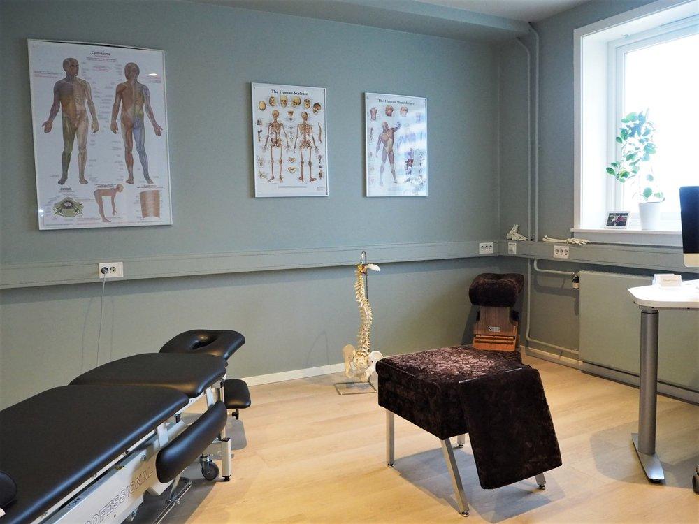 Velkommen til nyoppussede lokaler på Fokusklinikken Vinderen - din muskel-og skjelettklinikk nær Røa i Oslo  . FOTO: Fokusklinikken