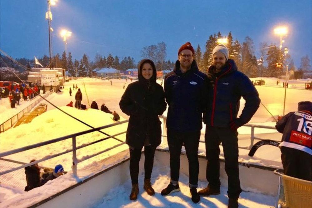 Bandyens dag: fysioterapeut Ane Selseth, sportssjef Niklas Andersson og kiropraktor Truls Ottesen. FOTO: Fokusklinikken