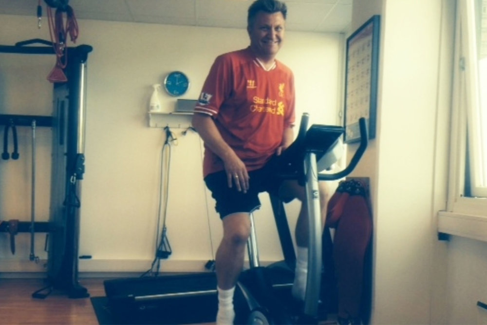 Jan (45) har fått mye veiledning av fysioterapeut Camilla Artmeyer.