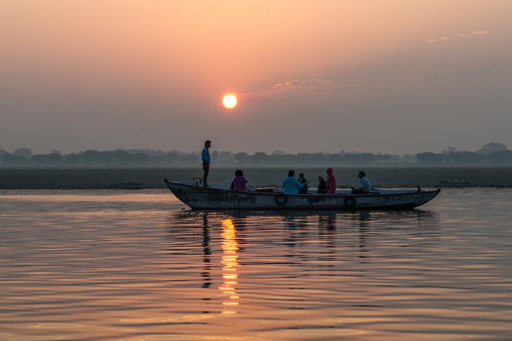 Sunrise over the Ganges - Varanasi, India.