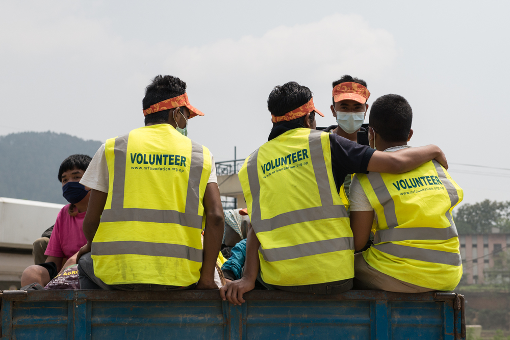 We noticed many other volunteers, including tourists and professionals, providing the best help that they could provide during these critical moments after the earthquake happened.